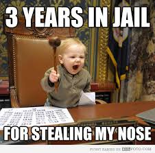 Baby Judge Stealing Nose