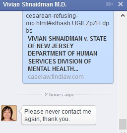 2014-10-20 Vivian Shnaidman FB Response to Journalists